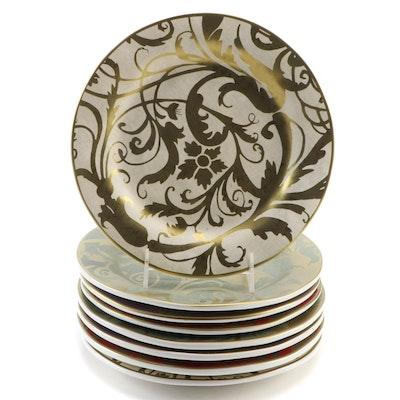 Pottery Barn Gold Scrolling Foliate Dinner Plates