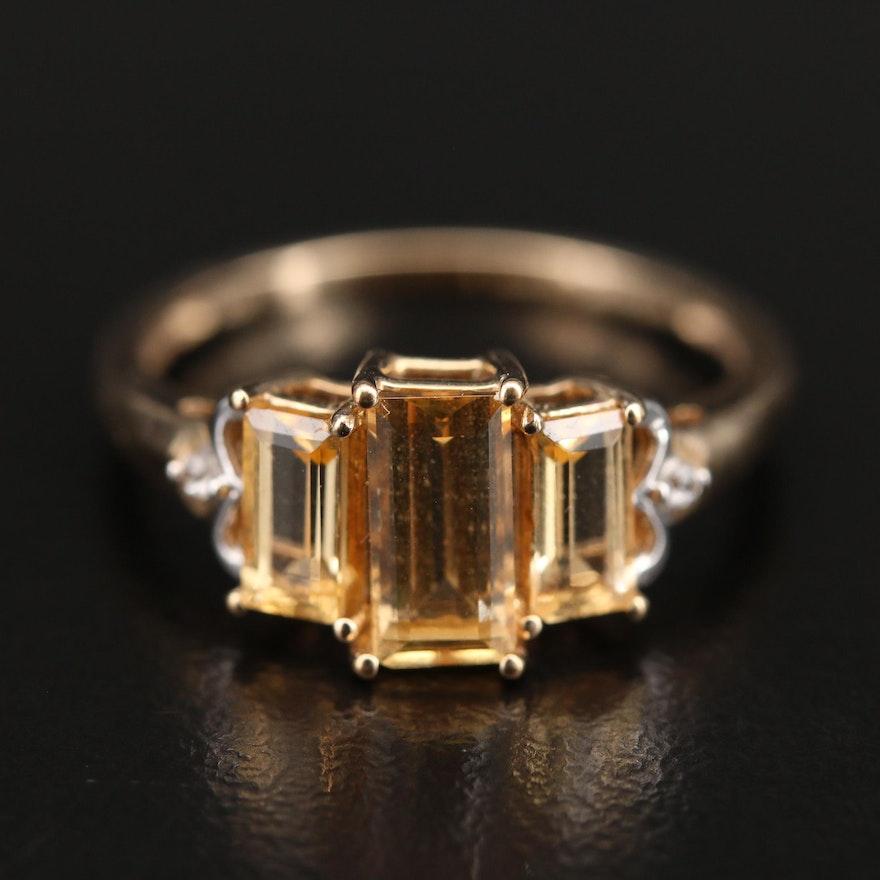 10K Topaz and Zircon Ring