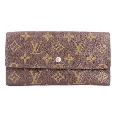 Louis Vuitton Pochette Porte Monnaie Wallet in Monogram Canvas