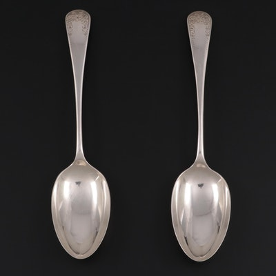 Mappin & Webb of Sheffield Sterling Silver Serving Spoons, 1921