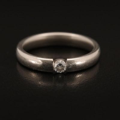 Platinum 0.13 CT Diamond Solitaire Band