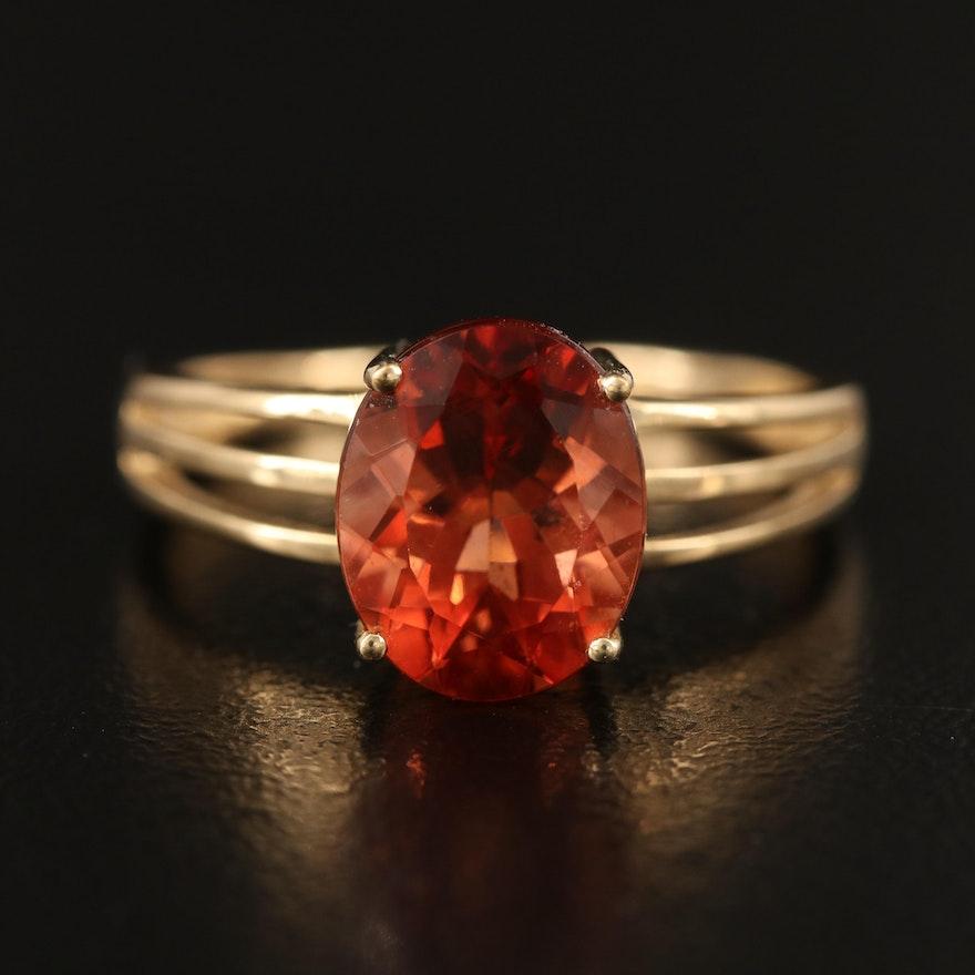 10K Labradorite Ring