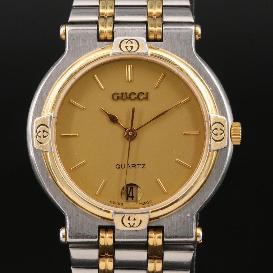 Vintage Gucci 900M Two-Tone Stainless Steel Quartz Wristwatch