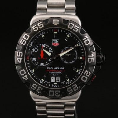 "TAG Heuer ""Formula 1 Alarm"" Big Date Stainless Steel Quartz Wristwatch"