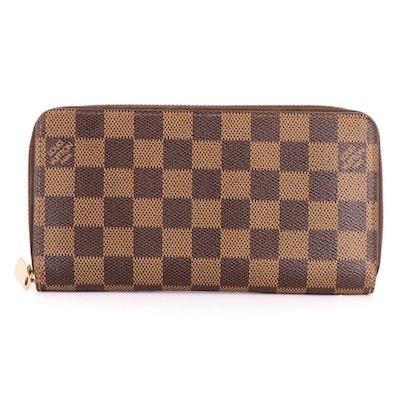 Louis Vuitton Zippy Wallet in Damier Ebene Canvas
