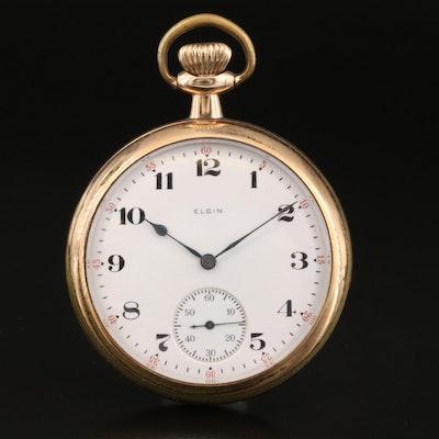 1918 Elgin Open Face Pocket Watch