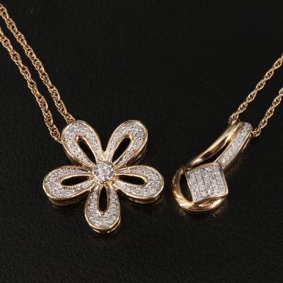 Sterling Silver Diamond Necklaces