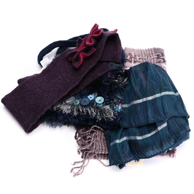Suantrai of Ireland Open Weave Scarf, Linda Wilson Lambswool Scarf and More