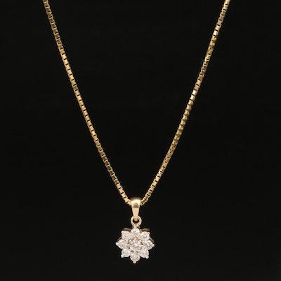 14K Diamond Pendant Necklace