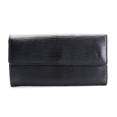 Louis Vuitton Sarah Wallet in Black Epi Leather