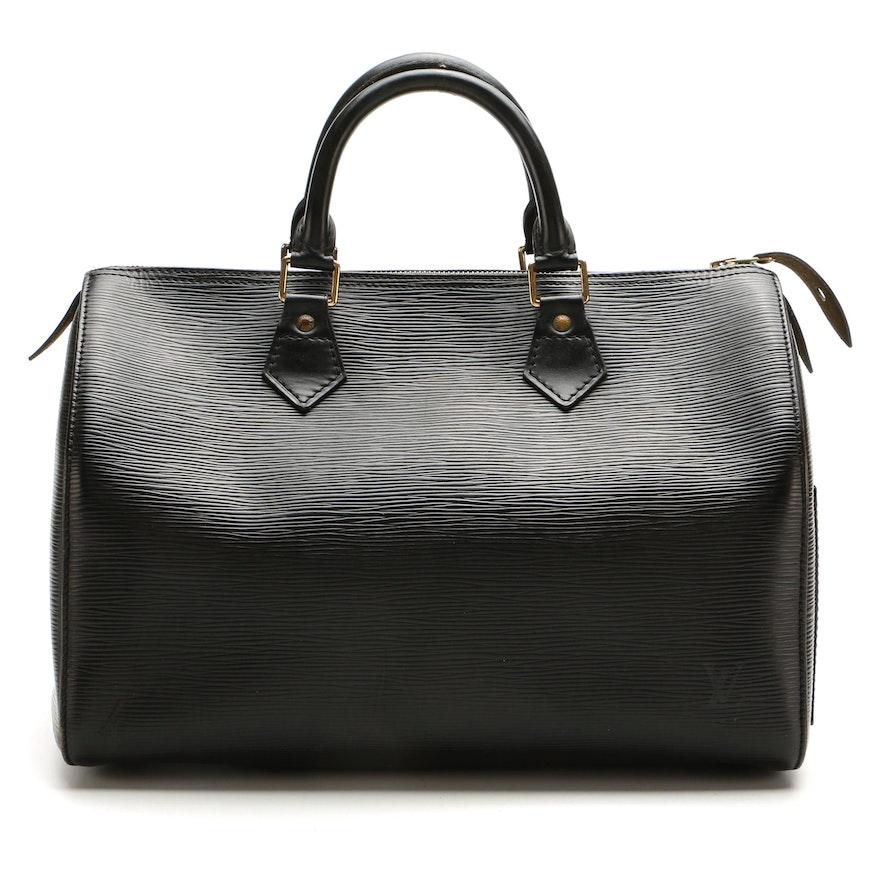 Louis Vuitton Speedy 30 in Black Epi Leather