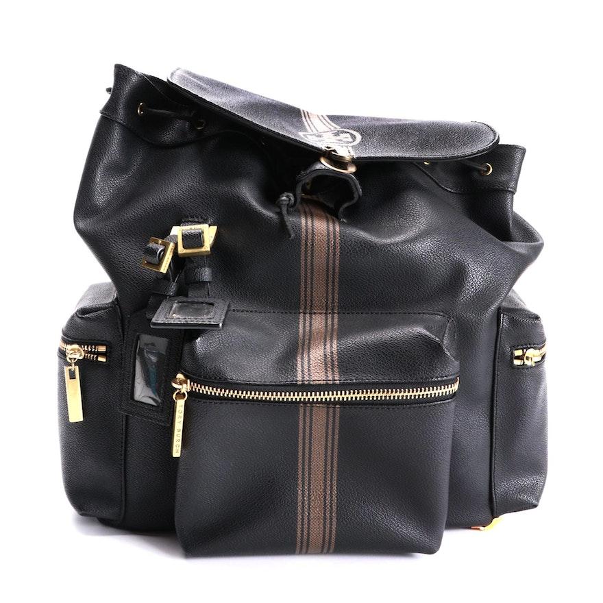 Tory Burch Stripe Pushlock Backpack