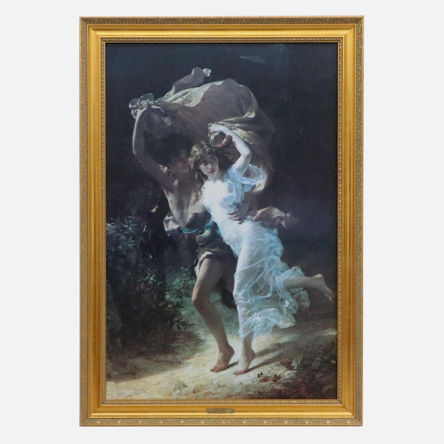 """Offset Lithograph after Pierre Auguste Cot """"The Storm"""""""