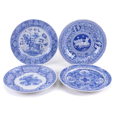 Spode Blue Room Collection Ceramic Plates, Late 20th Century