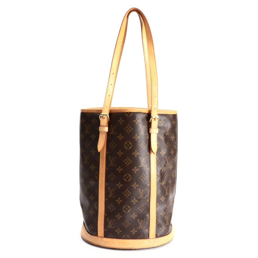 Louis Vuitton Marais Bucket Bag GM in Monogram Canvas and Vachetta Leather