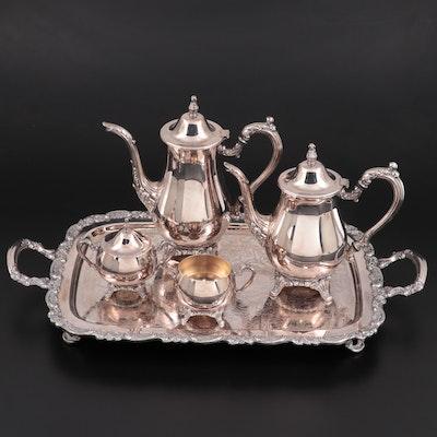 "Oneida ""Du Maurier"" Silver Plate Tea Service Set, 1967–2004"