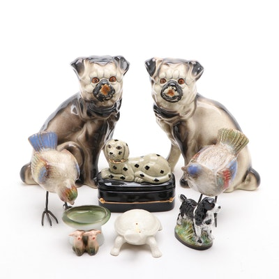 Lenox Porcelain Turtle, Dog Shaped Bottle Opener, and More Animal Figurines