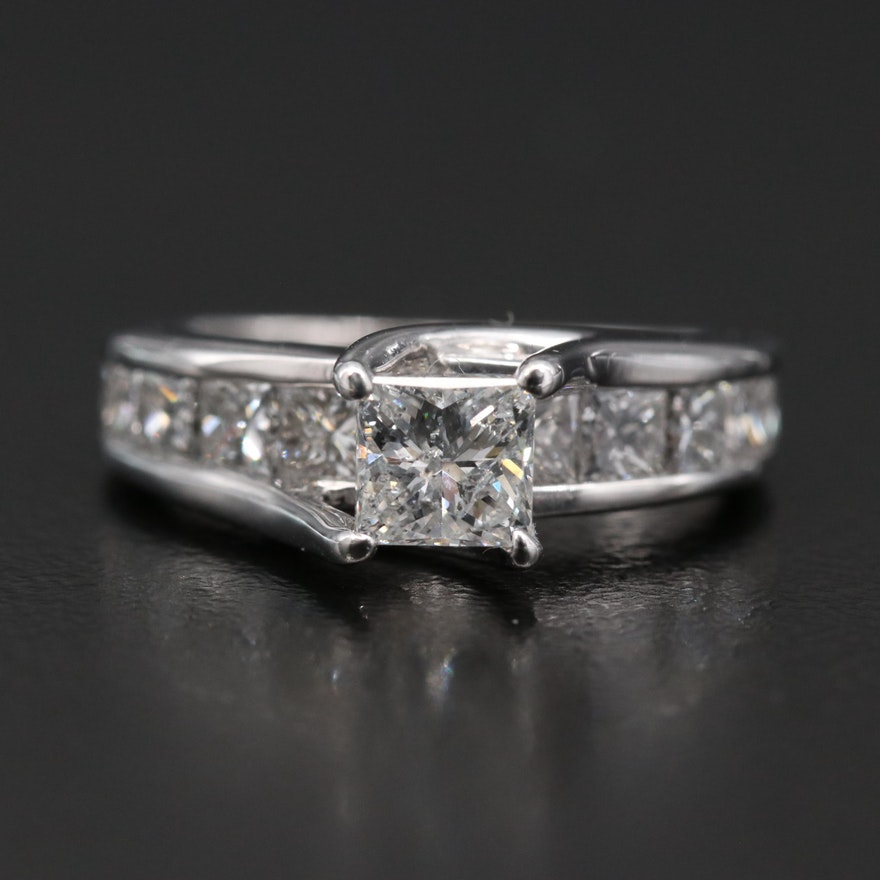 14K Diamond Ring with Channel Setting