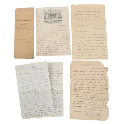 Letters and Deed, Late 19th Century