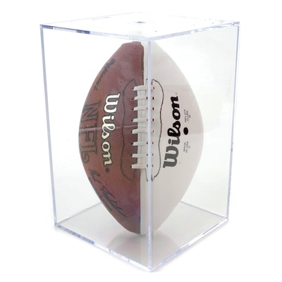 Steve Young and Jerry Rice Signed Wilson Signed Football with Display Case, COA