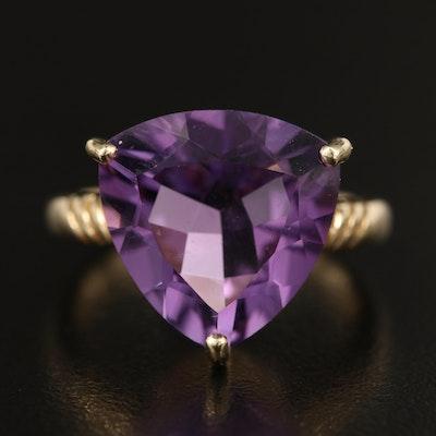 14K 8.20 CTS Amethyst Ring