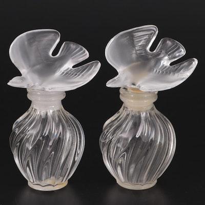 "Lalique for Nina Ricci ""L'Air du Temps"" Crystal Perfume Bottles"