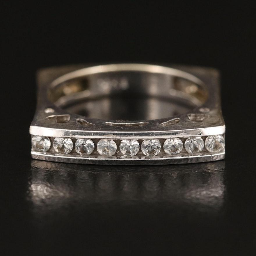 14K Channel Set Sapphire Ring