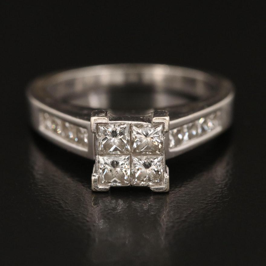 14K 1.44 CTW Invisible Set Diamond Ring