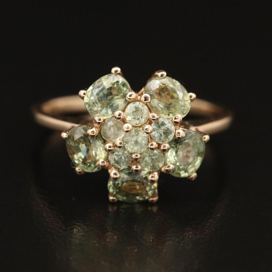 10K Peridot Ring