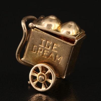10K Articulated Ice Cream Cart Charm