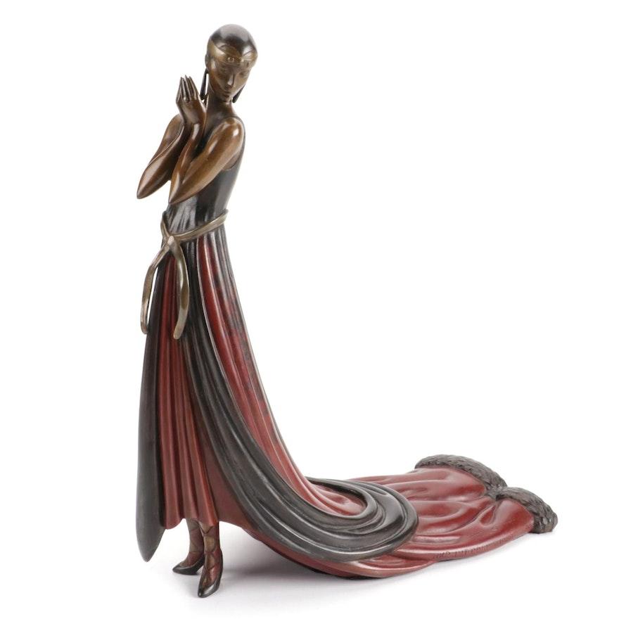 """Erté Patinated Bronze Sculpture """"Splendor,"""" 1980"""