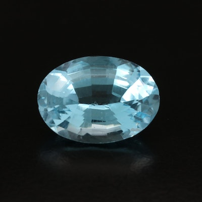 Loose 15.19 CT Oval Faceted Topaz