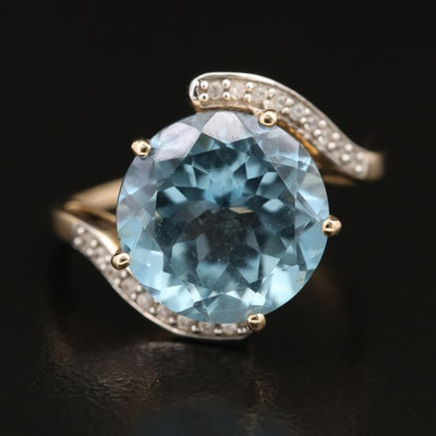 9K Topaz and Zircon Bypass Ring