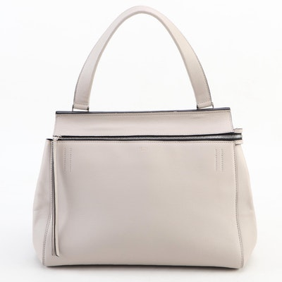 Céline Edge Handbag in Slate Grey Pebble Grain Leather