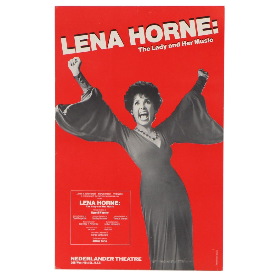 """Show Poster """"Lena Horne: The Lady and Her Music"""" at Nederlander Theatre, 1981"""