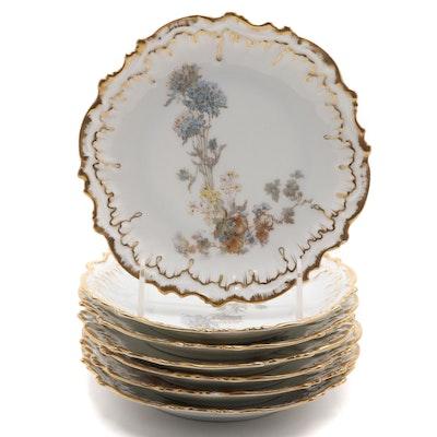 The Elite Works Limgoes Porcelain Dessert Plates,  Late 19th Century