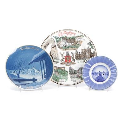 """Royal Copenhagen """"Langeline"""" and Other Porcelain Collectors and Souvenir Plates"""