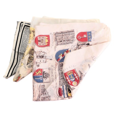 Liberty of London and Other Silk Patterned Scarves