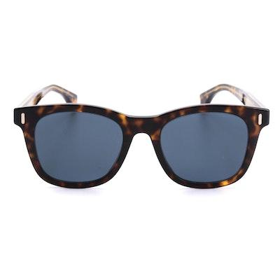 Fendi Horn-Rimmed Sunglasses in Dark Havana Tortoise Acetate