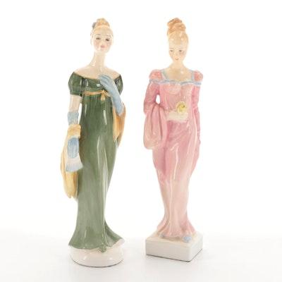 "Royal Doulton ""Lorna"" and ""Daphne"" Bone China Figurines"