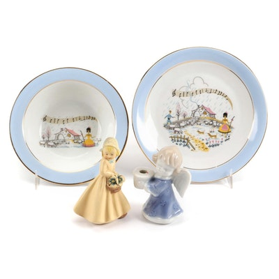 Singer Limoges Porcealin Children's Place Setting and Other Tableware