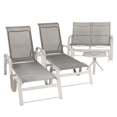 Patio Furniture with Lounge Chairs, Glider and Table