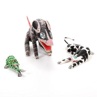 Handcrafted Mexican Folk Art Animal Sculptures