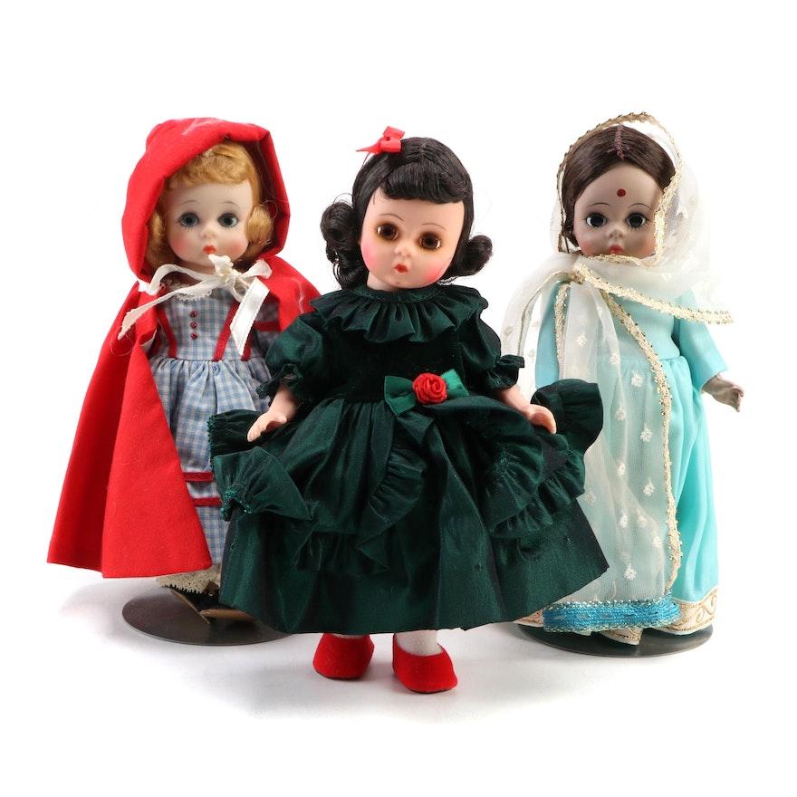 "Madame Alexander ""Joy"", ""India"" and ""Red Riding Hood"" Dolls"