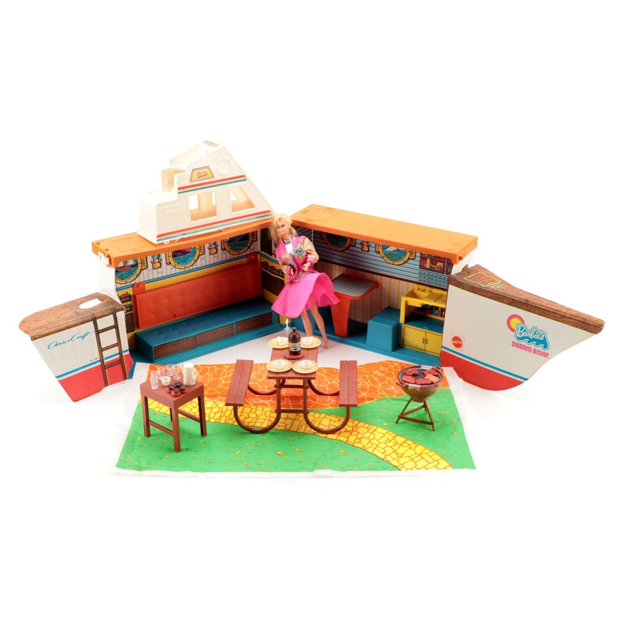 Mattel Barbie's Dream Boat with Arco Barbeque Play Set