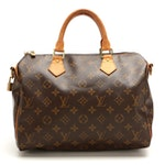 Louis Vuitton Speedy Bandouliere 30 in Monogram Canvas and Vachetta Leather