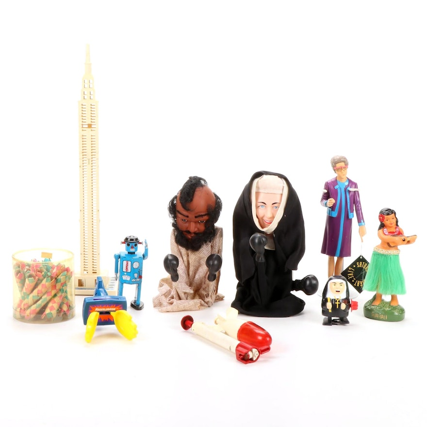 """Collectors Toys Featuring """"Nun Zilla"""" and """"Fighting Nun"""" Puppet"""