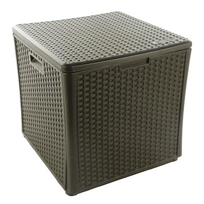 Suncast Plastic Woven Storage Deck Box