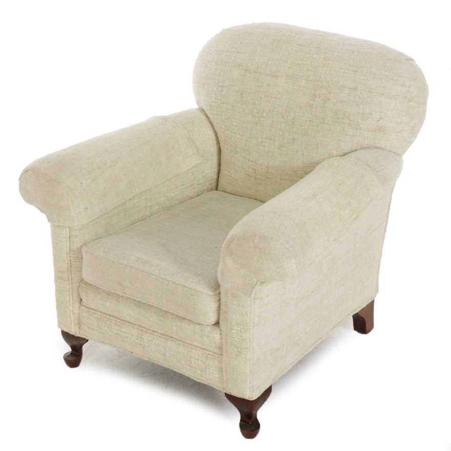 Fabric Upholstered Easy Chair, Late 20th Century