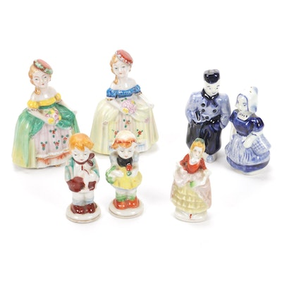 Japanese Porcelain Figurines with Dutch Figural Salt and Pepper Shakers
